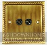 Monarch Roped Antique Bronze TV, Phone & Satellite Sockets